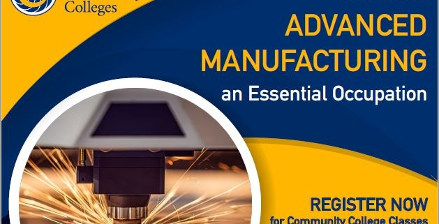 flyer header - get into essential Advanced Manufacturing careers