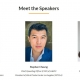 Faces of three speakers for CMTC workshop
