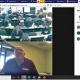 screen shot of business owner in webinar with high school students during virtual tour