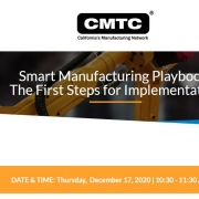 CMTC webinar announcement for Smart Manufacturing