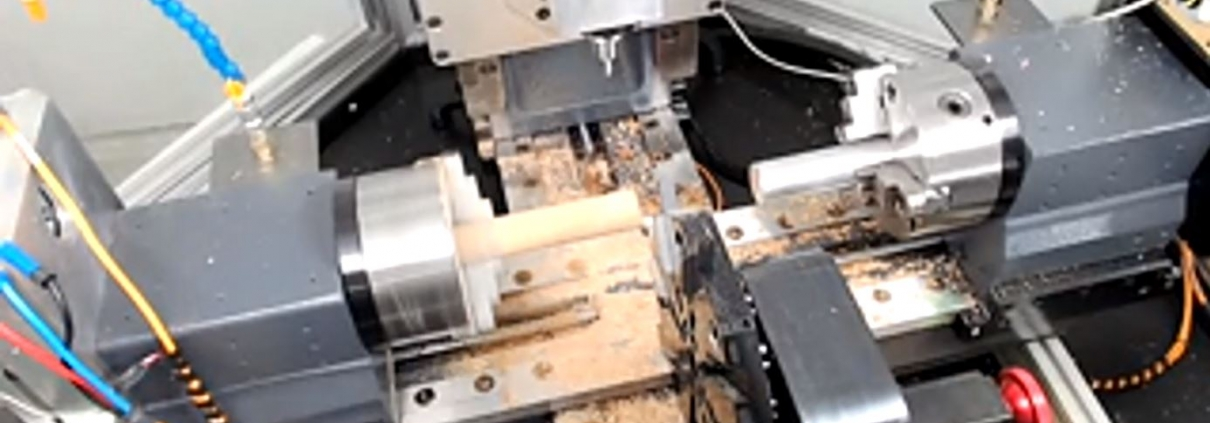 Swiss Mac CNC with wood chips