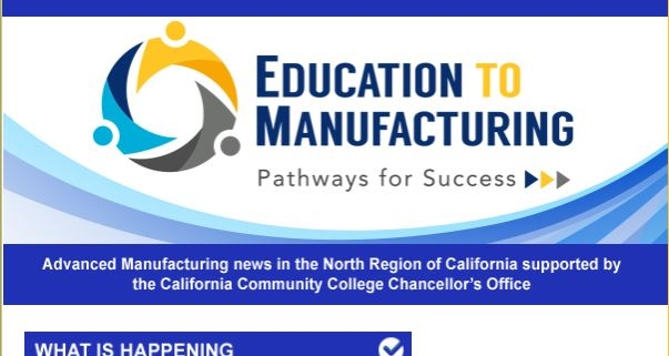 Header of Education to Manufacturing newsletter