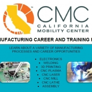 top of career fair flyer showing manufacturing tools