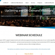 CMTC webinar schedule clip from website